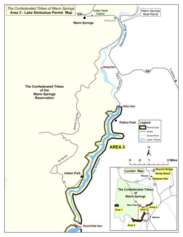 Lake Simtustus (Area 3) - Department of Fisheries